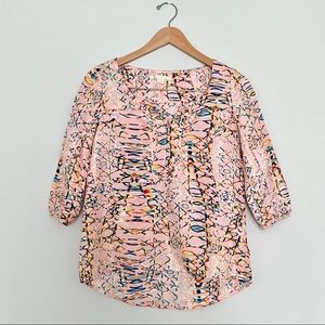 Cooper and Ella Pretty In Pink Patterned Blouse